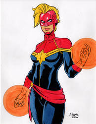 Captain Marvel Carol Danvers by SatyQ