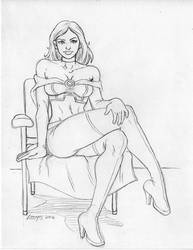 White Queen from the X-Men pencil commission by SatyQ