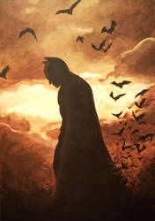 Batman Begins painting by SatyQ