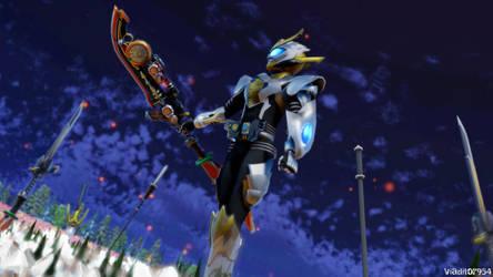 Kamen Rider Warlord Gaim by viaditor954