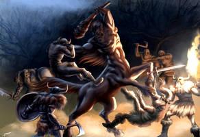 Vikings vs Centaur by migoss01