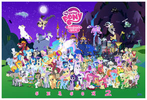 MLP FiM S2 Character Cluster-fun (update 1) by Blue-Paint-Sea