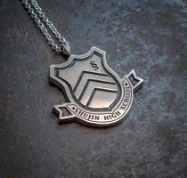 Persona 5 Shujin Academy silver pendant by KristoLiiva