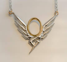 Overwatch Mercy silver and brass necklace by KristoLiiva