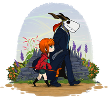 Afternoon Stroll: Elias and Chise by Pandas-R-Us