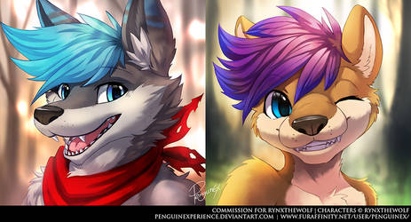 Commission Headshot for RynxTheWolf by PenguinEXperience
