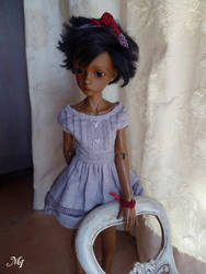 Dollstown Seola pale tan on elf body by vallouise