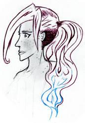 Inktober2016:: Rin by mischief-tea