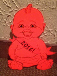 Happy New Year from the Creepy Baby by Leucrota