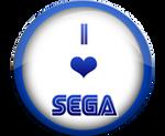 I Love SEGA badge by darkfailure