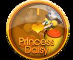 I Love Princess Daisy Badge by darkfailure