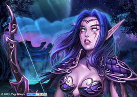 Hunter night elf by yagihikaru