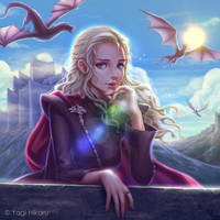 Game of Thrones/Daenerys Targaryen on Dragonstone by yagihikaru