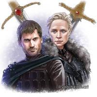 Jaime and Brienne [Game of Thrones] by yagihikaru