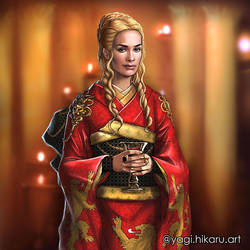 Cersei Lannister / Kimono of House Lannister by yagihikaru