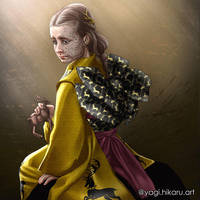 Shireen Baratheon in kimono of House Baratheon by yagihikaru
