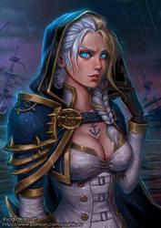 Jaina Proudmoore/Daughter of the Sea by yagihikaru