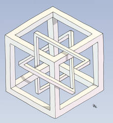 Penrose Cube by Toucam