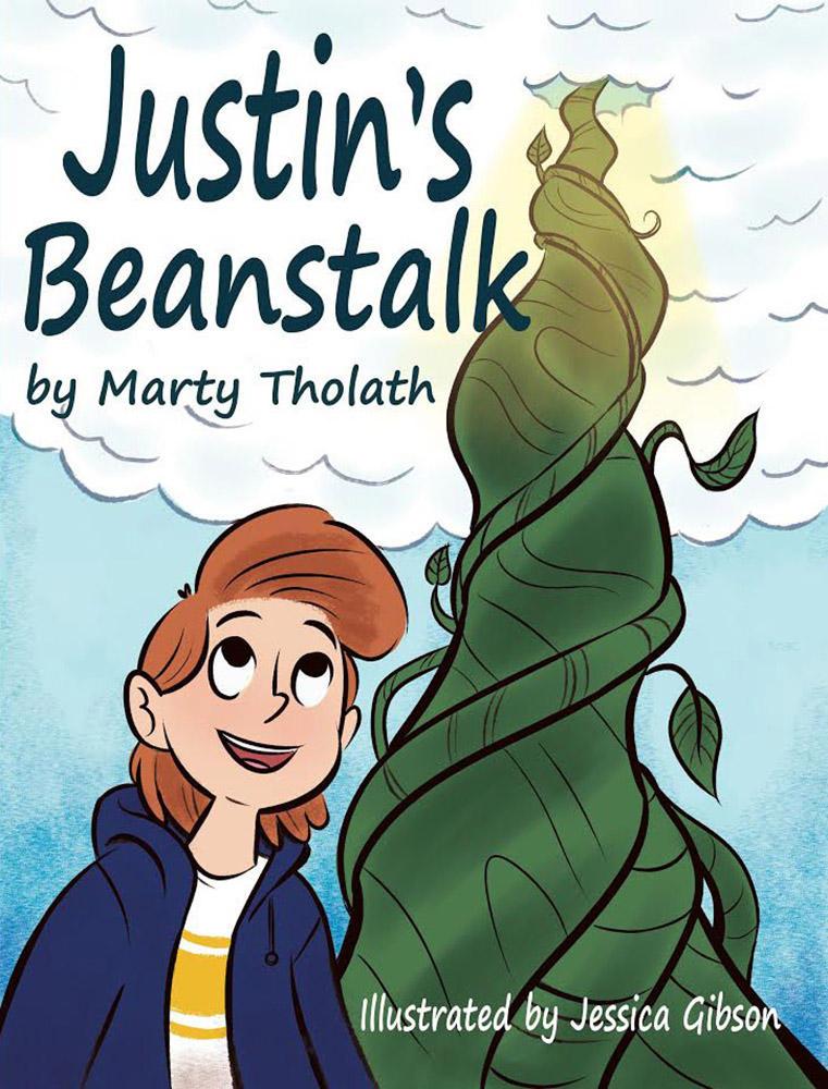 Justin's beanstalk Front Cover by barneyjones123