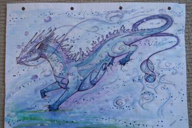 Blue Dragon by Sefira-ry