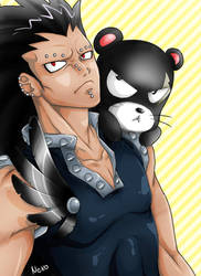 Gajeel and Lily by Shironek0