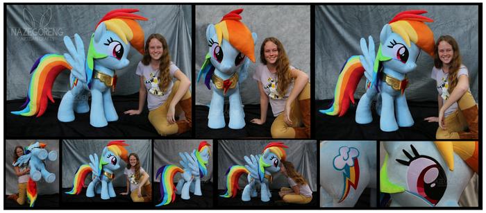Lifesize Rainbow Dash Custom Plush by Nazegoreng