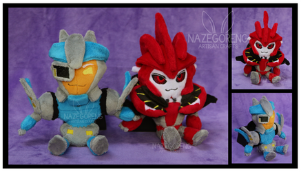 Knock Out and Breakdown Chibi Custom Plushes by Nazegoreng