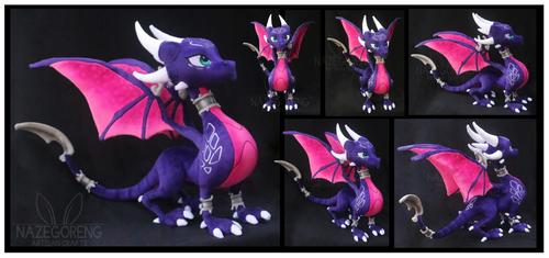 Cynder the Dragon Custom Plush by Nazegoreng