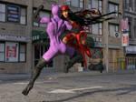 Elektra Vs Catwoman 2 by TinOmenOgre