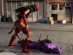 Elektra Vs Catwoman 4 by TinOmenOgre