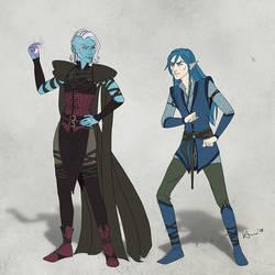 Antagonist vs Protagonist by karchew