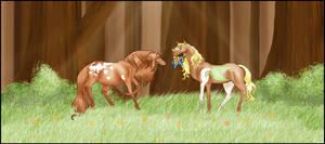Happy Foal Shower by NightimeMare