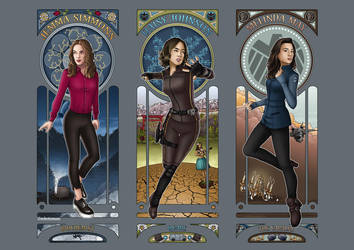 Art Nouveau - Agents of SHIELD Ladies by eclecticmuses