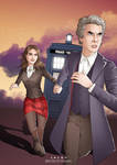 Doctor Who - Twelve and Clara by eclecticmuses