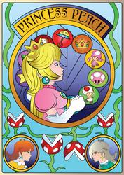 Art Nouveau Princess Peach by BlazingDazzlingDusk