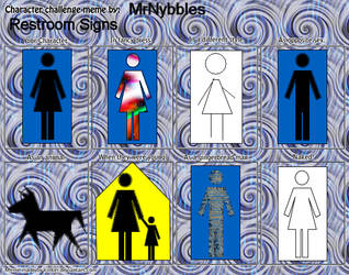 Restroom Signs Meme by MrNybbles