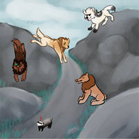 Ambush! Tribe Hunting Collab by DoodleDoot