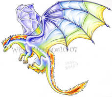 Rainbow Dragon 3 by WindieDragon