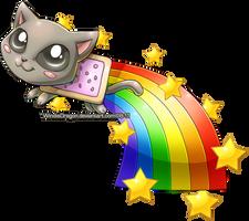 Nyan Cat Chibi by WindieDragon
