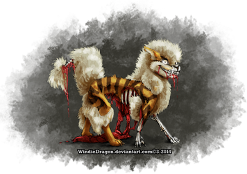 The Fluffiest Fire Zombie by WindieDragon