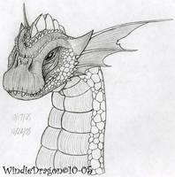 Bronze Dragon pencil by WindieDragon