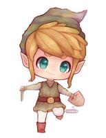 Zelda: SpeedPaint - Link Chibi by Teahaku