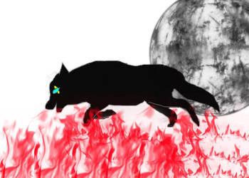 I run on fire by Black-Mortisha