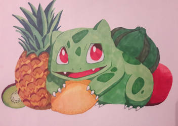 Bulbasaur and his fruits by Eclipse-M