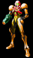 Samus Aran (Light Suit) - Varia Suit Colors by Varia31