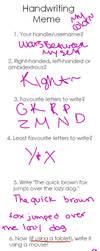 Tagged Writting Meme by WarsBetweenMyself