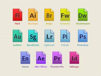 Adobe CS6 ~custom icons~ by LeyendaV