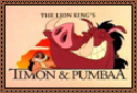 Timon and Pumbaa Stamp by Hunter-Arkaman
