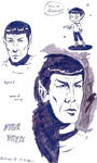 Spock - Ink practice by sparklingblue