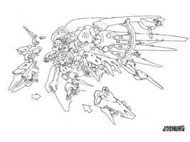 Diligence Gundam by dlredscorpion